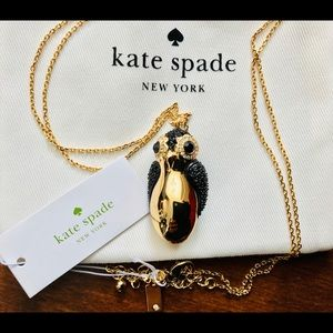 NWT Kate Spade Dashing Beauty Penguin Necklace